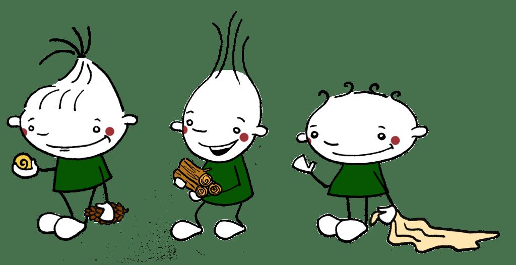 Männchen Schnecke Holz Tuch